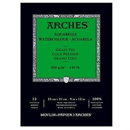 Canson 400014950 Arches Aquarell, 23 x 31 cm, naturweiß -