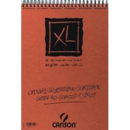 Canson Spiralblock XL Block Skizzen- und Zeichenpapier A4 120 Blatt -