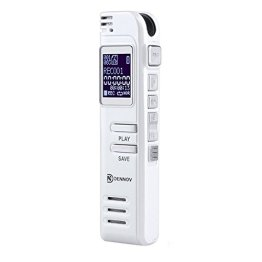 Digitales Diktiergerät Aufnahmegerät, Dennov 8GB Digitalrecorder mit USB, mp3 player & Mikrofon für Sitzungen / Meetings / Interviews / Vorlesungen -