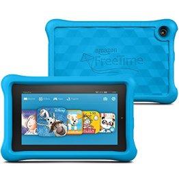 Fire Kids Edition-Tablet, 17,8 cm (7 Zoll) Display, WLAN, 16 GB, Blau Kindgerechte Schutzhülle -