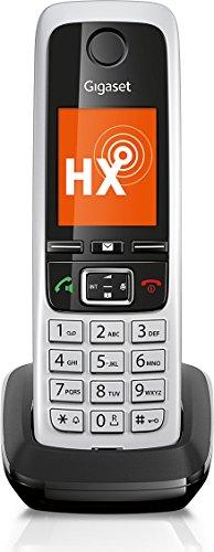 Gigaset C430HX Dect-Schnurlostelefon (zusätzliches Universal-Mobilteil, für Dect-Telefonbasisstationen und Router mit DECT oder DECT-CATiq, 4,6cm (1,8 Zoll) TFT-Farbdisplay, Komfort-Freisprechen) schwarz /silber -