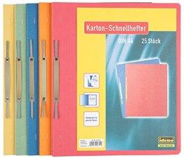 Idena Kartonschnellhefter A4, 25 Stück/Pg Sortiert -