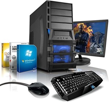 "Komplett-PC Gaming-PC Hexa-Core AMD FX-6300 6x3.5GHz (Turbo bis 4.1GHz), 22"" LED Bildschirm, Gaming Tastatur/Maus, Windows 7 Prof 64bit, GeForce GTX750 2GB DDR5, 1TB HDD, 8GB RAM, #4769 -"