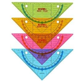 KUM Geo-File Geodreieck zum Abheften in einen Ordner -