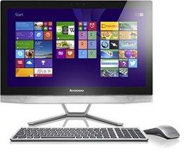 Lenovo B50-30 60,5 cm (23,8 Zoll) FHD IPS All-in-One Desktop-PC (Intel Core i7-4785T, 3,2GHz, 16GB RAM, Hybrid 2TB HDD + 8GB SSHD, NVIDIA GeForce 840A/2GB, DVD, NFC, Touchscreen, Win 8.1) silber -