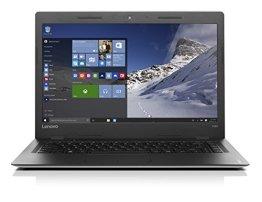Lenovo ideapad 100S 35,56cm (14 Zoll HD Glare) Slim Notebook (Intel Pentium N3710 Quad-Core, 2,56GHz, 4GB RAM, 256GB SSD, Windows 10 Home) silber -