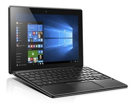 Lenovo Miix 310 25,65 cm (10,1 Zoll Full HD) Tablet PC (Intel Atom x5-Z8350 Quad-Core Prozessor, 4GB RAM, 64GB eMMC, Intel HD Grafik, Touchscreen, Windows 10) silber inkl. AccuType Tastatur -