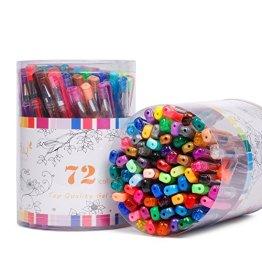Magicfly 72 Set Gelschreiber Gelstifte : metallic, pastell und glitter für Kinder, Malen, Zeichnen ... -