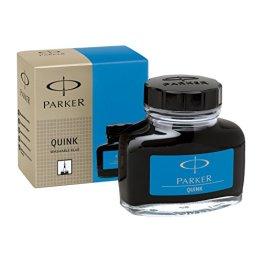 Parker S0037480 Tintenfass mit flüssiger Quink-Tinte (auswaschbar, 57 ml) blau -