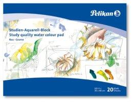 Pelikan 251041 - Studien Aquarellblock SR3 / 20 20 Blatt, 30 x 40cm -