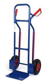 Sackkarre, Gleitkufen 250 KG blau, 111x50x53 cm (Transportkarre Stapelkarre Handkarre) -