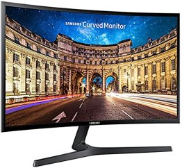 Samsung C24F396F 61 cm (24 Zoll) Curved Monitor (VGA, HDMI, 4ms Reaktionszeit, 1920 x 1080 Pixel) schwarz -