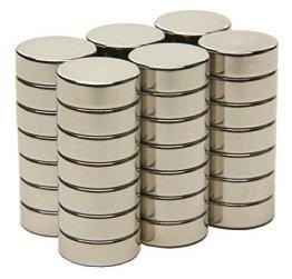 SBS® Neodym Magnet 8x3 mm 20 Stück Magnete Extrem Stark -