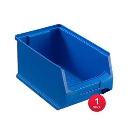 Sichtlagerbox 3.0, blau, Abm. 235x145x125mm (TxBxH) - Kunststoff Lagerboxen Stapelboxen Lagerkasten Lagerbox Lagerkästen Lagerkisten Lagersichtkästen mit Deckel Sichtbox Sichtlagerkästen Stapelbox Stapelkisten -