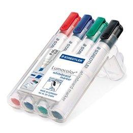 Staedtler 351 B WP4 Board-Marker Lumocolor whiteboard marker, Staedtler Box mit 4 Farben -