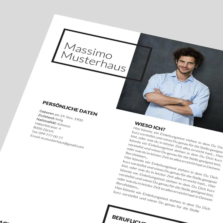 Lebenslauf Massimo - Dein Lebenslauf