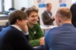 Im Rahmen der Veranstaltung konnten sich die Teilnehmenden sowohl mit den Unternehmen als auch untereinander vernetzen. ©Berliner Energieagentur, Dietmar Gust