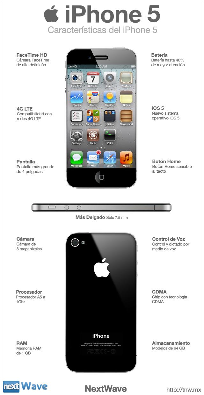 iphone 5 características y especificaciones