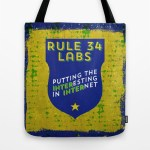 Rule 34 Labs tote bag