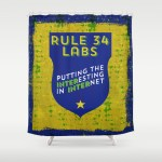 Rule 34 Labs shower curtain