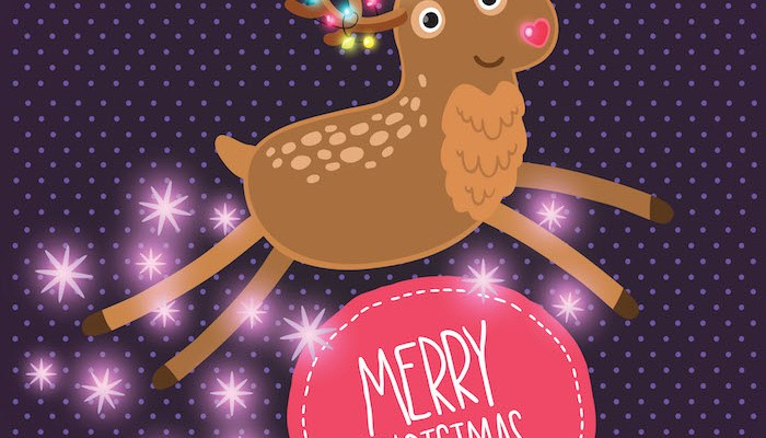 Cute cartoon Christmas reindeer