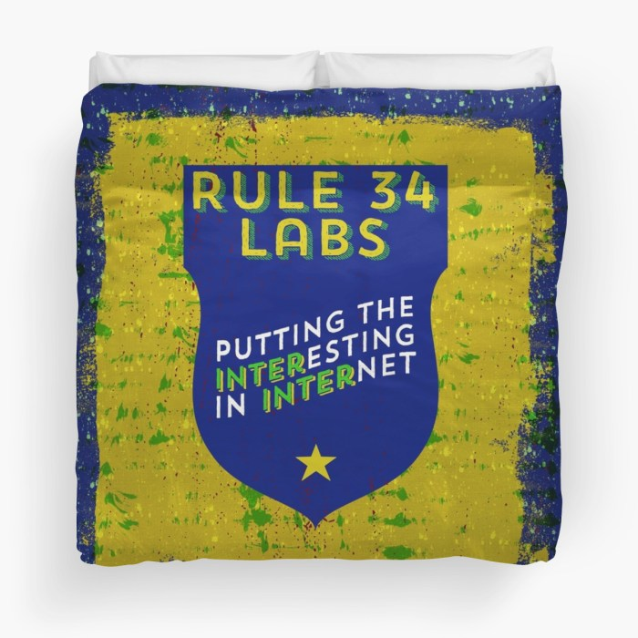 Rule 34 Labs king duvet