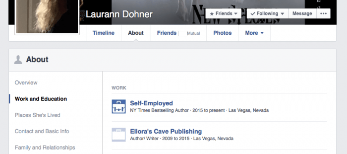 Laurann Dohner • Ellora's Cave is her Former Employer