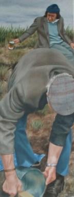 Braoinín Tae, oil on board, 40 x 15 cm, image