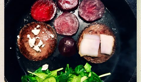 Zutaten für den Wildschwein-Burger