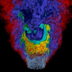 lean hydrogen flame simulation
