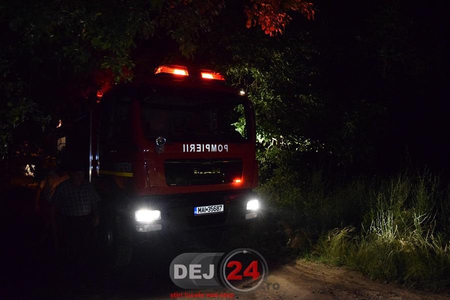 incendiu Ocna pompieri noapte (7)