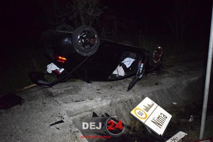 Accident Nima DN1C noaptea (3)