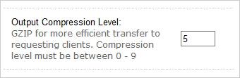 Compression level