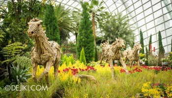 gardens by the bay year of the horse floral display