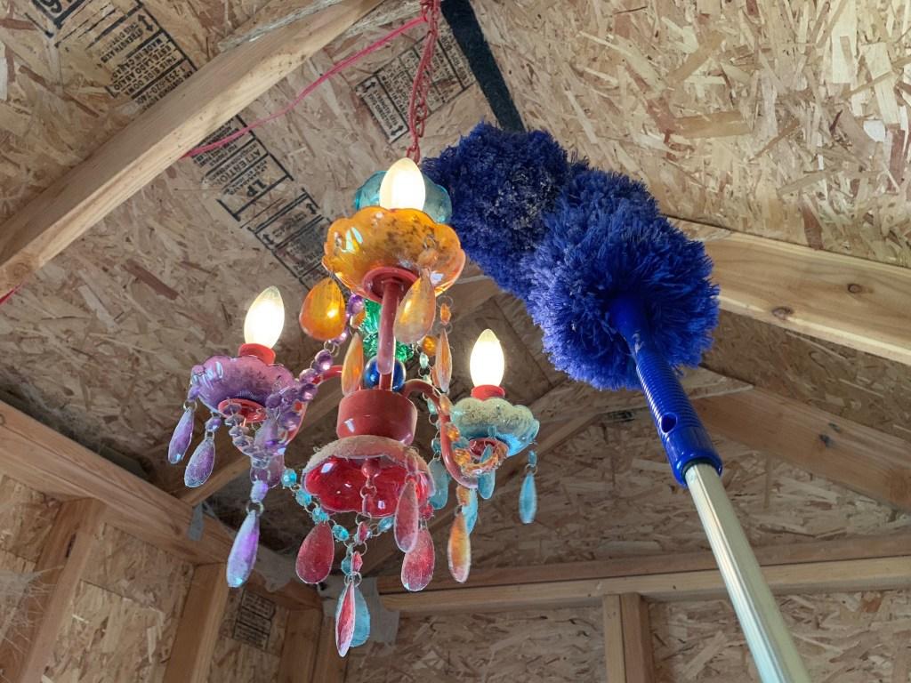 Dusting coop chandelier