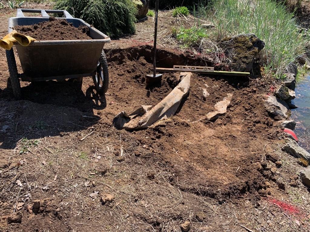 Excavating dirt