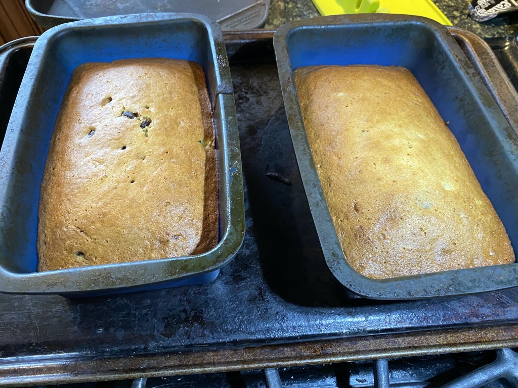 Banana bread cooked
