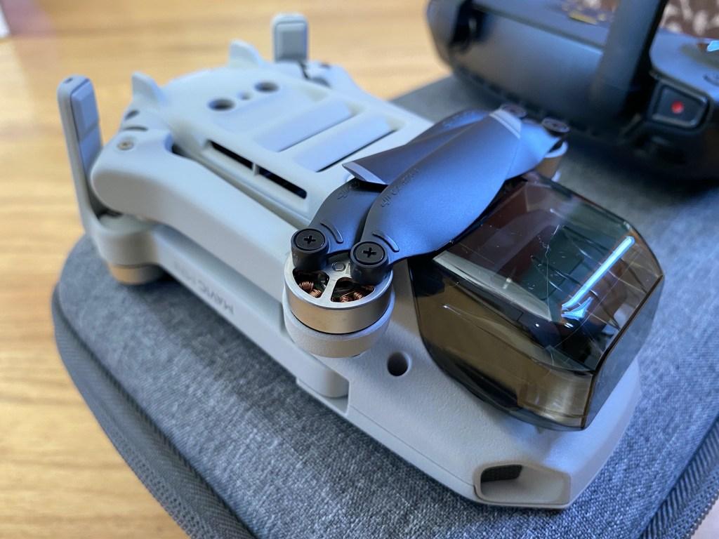 Folded drone underside
