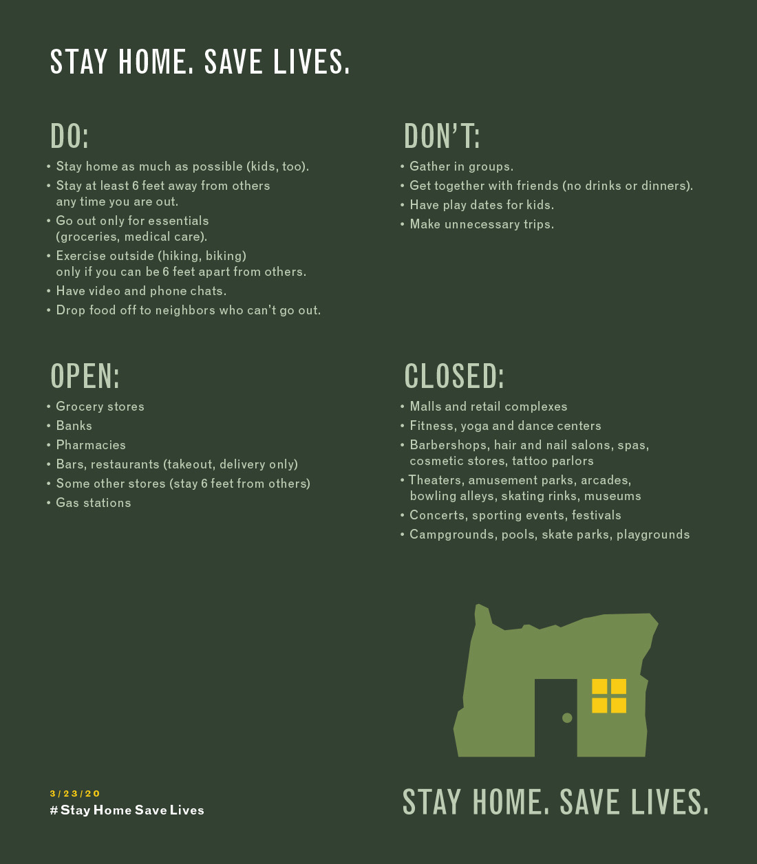 Oregon Stay Home Save Lives