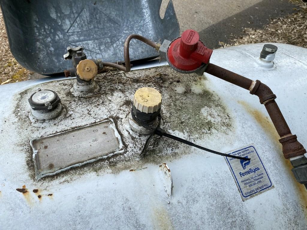 Top of propane tank