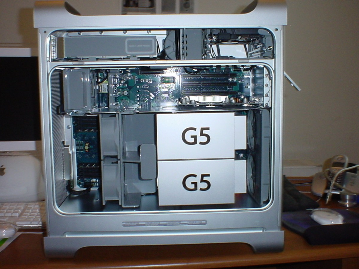 Power Mac G5 open side