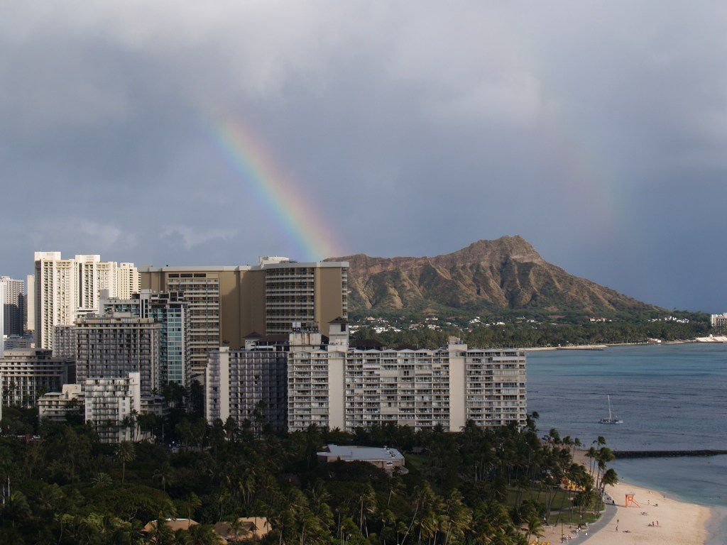 Rainbow over Diamond Head