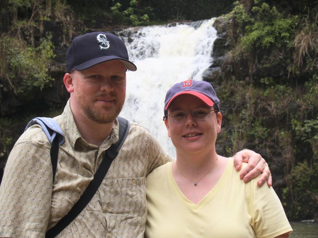 David and Jenn at Waihi Falls
