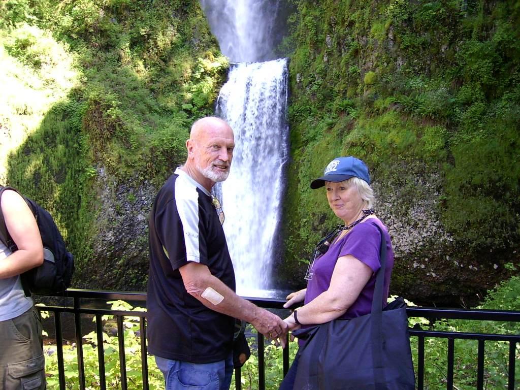 Brian and Mum at Multnomah Falls