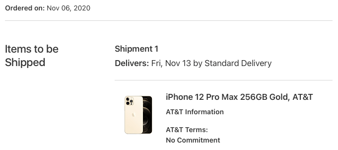 iPhone order