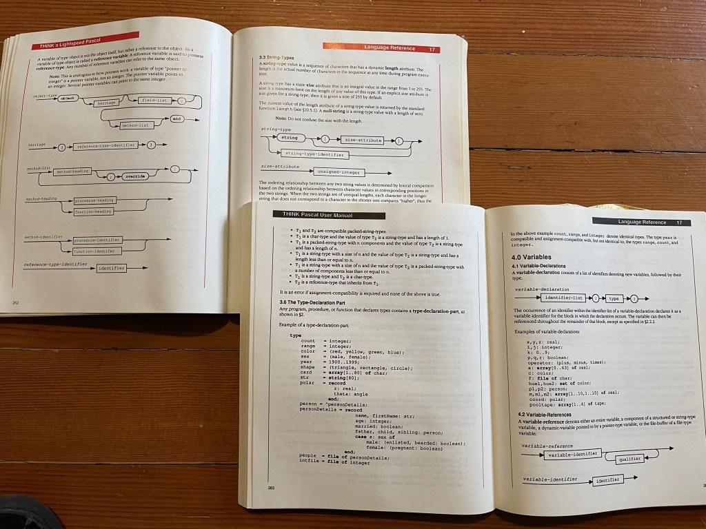 Pascal manuals