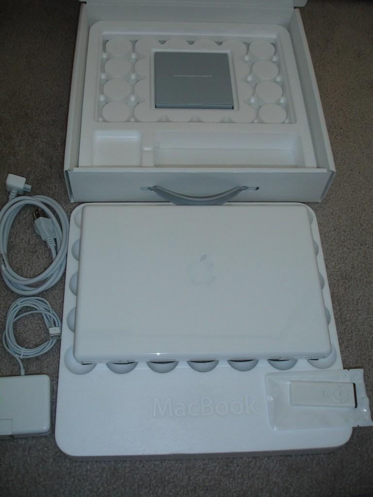 MacBook and box