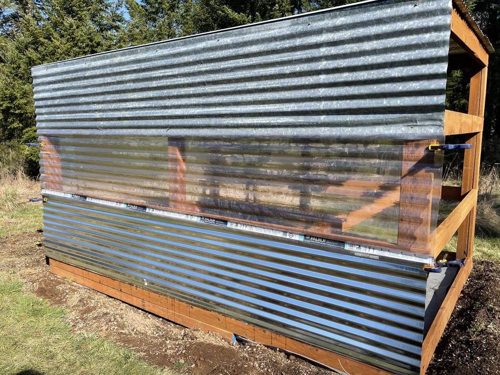 Adding corrugated cladding