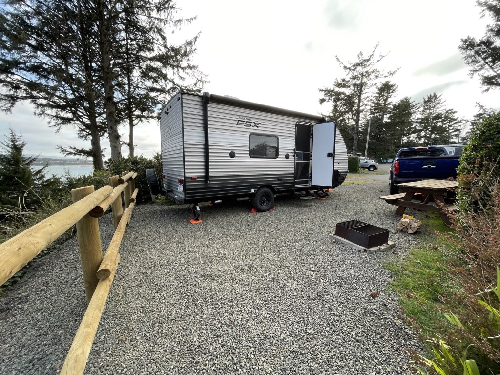 Trailer at campsite