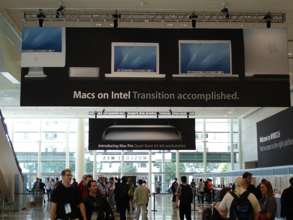 WWDC06 Macs on Intel